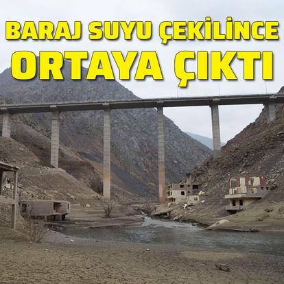 Baraj suyu çekilince ortaya çıktı