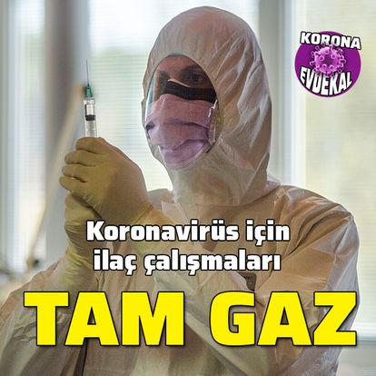 Koronavirüs ilaç çalışmaları tam gaz!