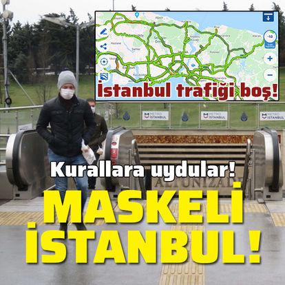 Kurallara uydular! Maskeli İstanbul!