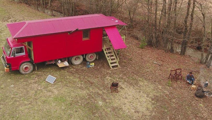 eve dönüştürülen kamyon