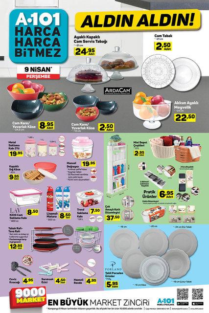 A101 9 Nisan Aktüel ürünler kataloğu! A101'de bu hafta indirimli neler var?