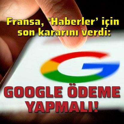 Google haberler için ödeme yapmalı!