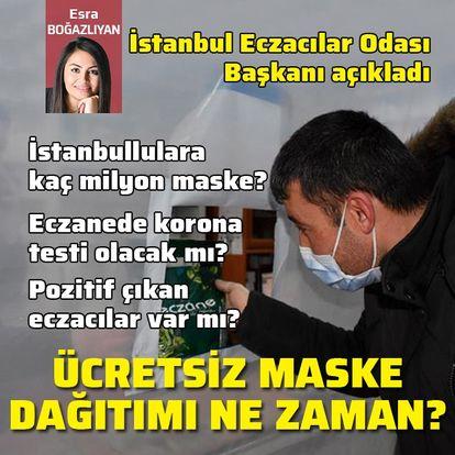 İstanbullu ücretsiz maskeyi eczaneden ne zaman alacak?
