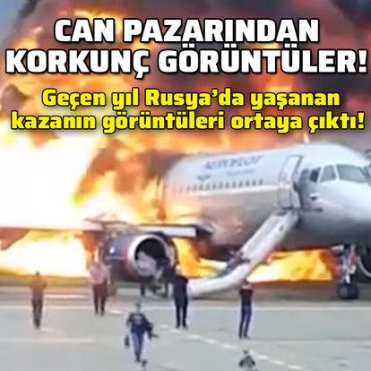 Rusya'da geçen yıl gerçekleşen uçak kazasından korkunç görüntüler!