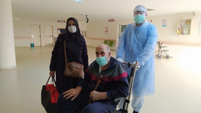 Koronavirüsü yenen 64 yaşındaki hasta taburcu edildi