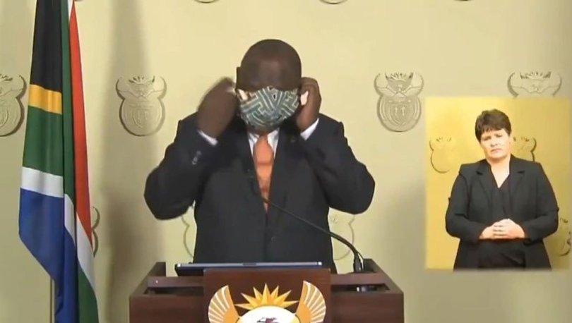 Güney Afrika liderinin maskeyle imtihanı! - Haberler