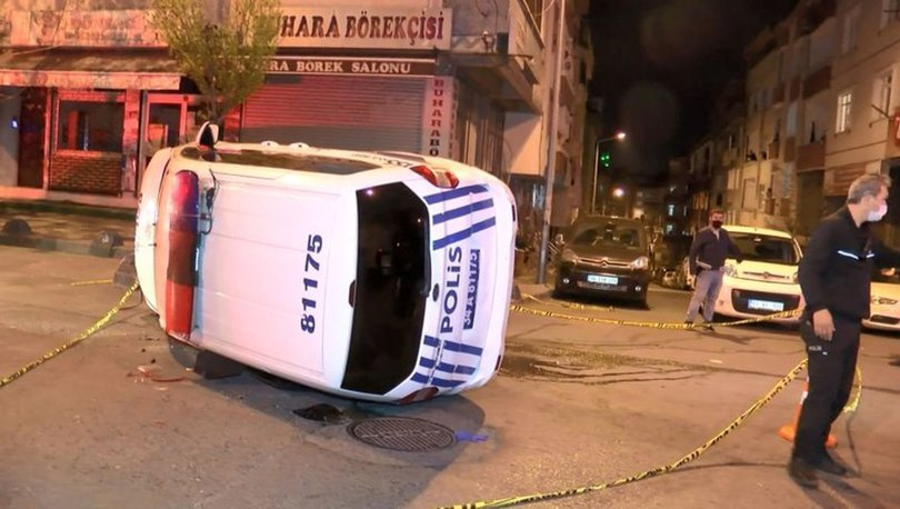 İstanbul'da polis ekipleri kaza yaptı: 2 polis yaralı...