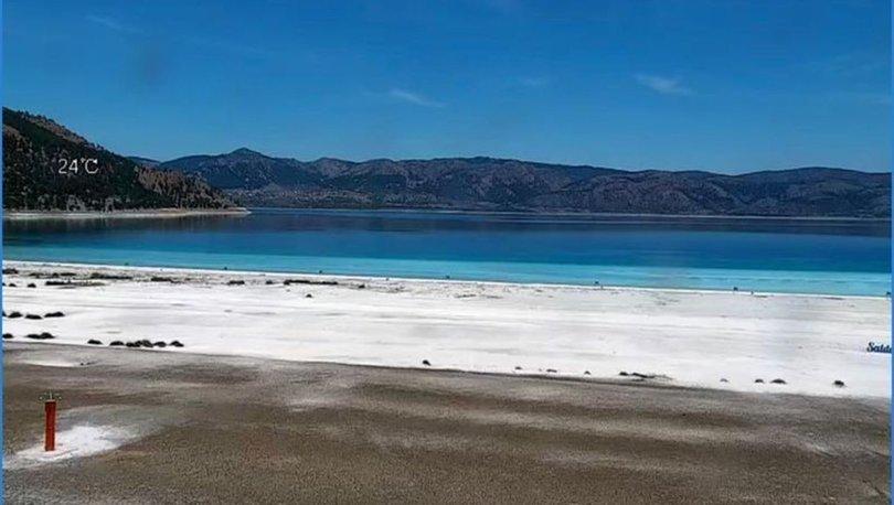 Salda Gölü'nün 24 saat izleneceği kamera sistemi canlı yayına başladı