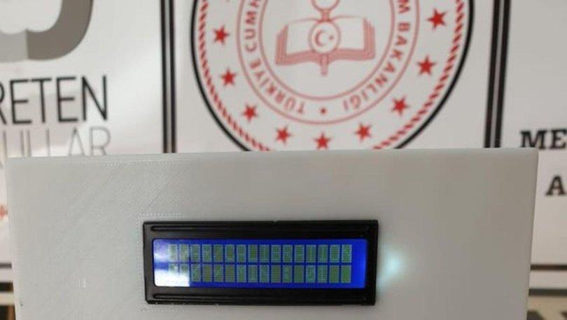 Meslek lisesi öğretmenleri, hava dezenfekte cihazı ve temassız termometre üretti