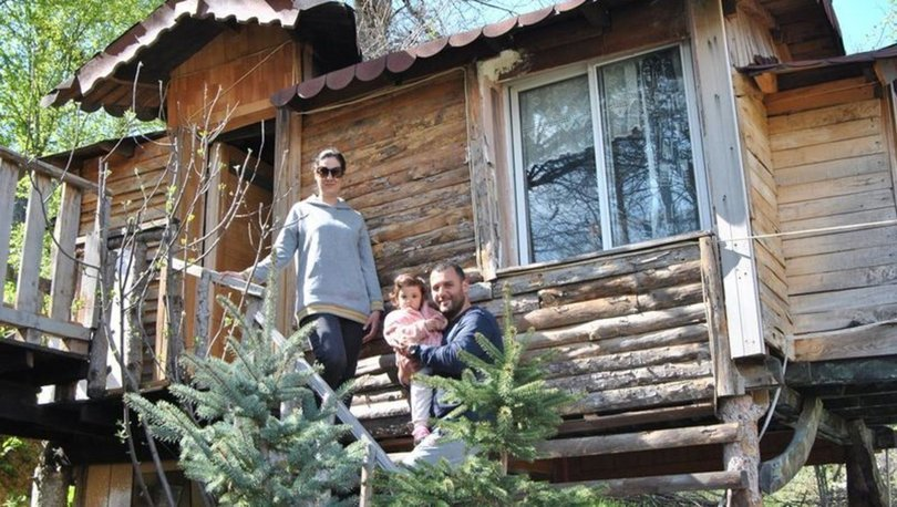 Koronavirüs sürecini ağaç evlerde geçiriyorlar