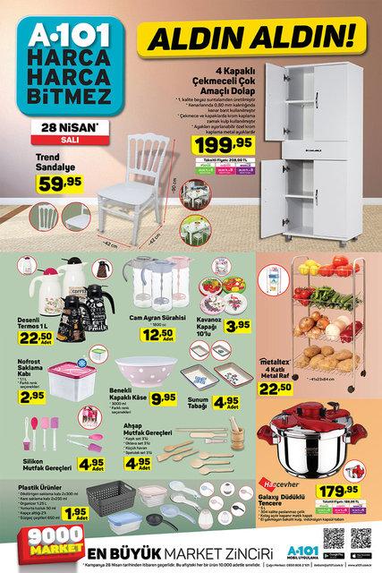 A101 aktüel ürünler kataloğu 28 Nisan 2020 Salı! A101 katalog ürünleri 30 Nisan Perşembe yerine bugün satışta