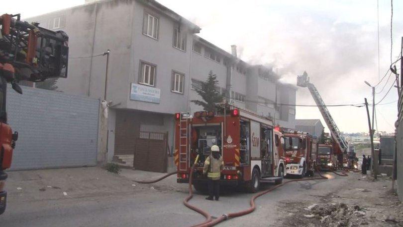 Esenyurt'ta makine fabrikasında yangın