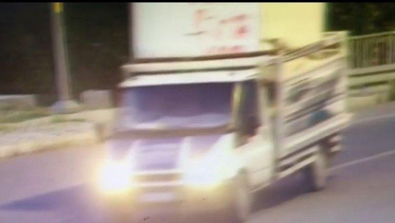 Kısıtlamayı fırsat bilip konteyneri kamyonetle çaldılar