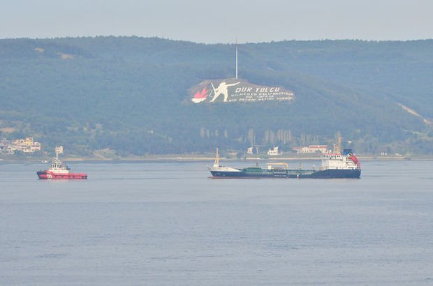 Çanakkale Boğazı'nda tanker arızası