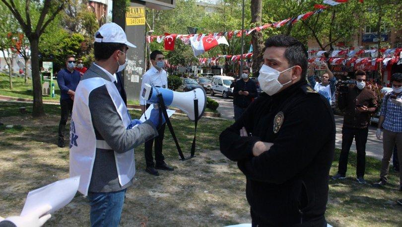 Polis eylem alanına girdi, tek tek sosyal mesafeyi ayarladı