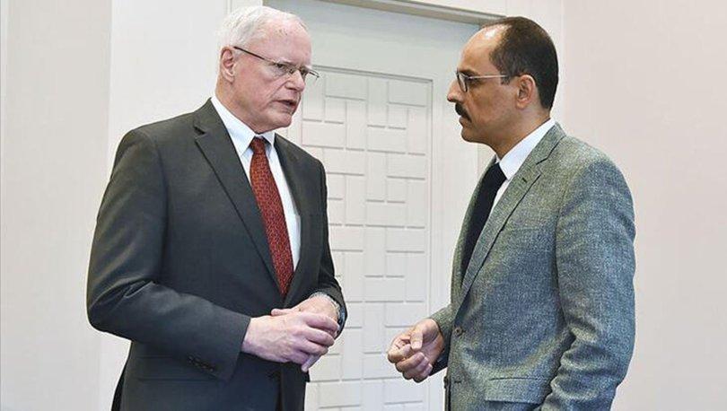Cumhurbaşkanlığı Sözcüsü Kalın ve ABD'nin Suriye Özel Temsilcisi Jeffrey İdlib'i konuştu