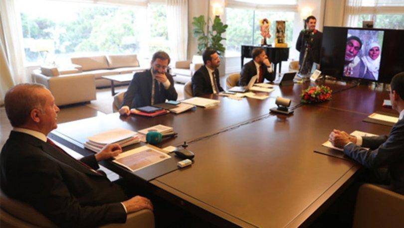 Cumhurbaşkanı Erdoğan, video konferans yöntemiyle vatandaşlarla konuştu