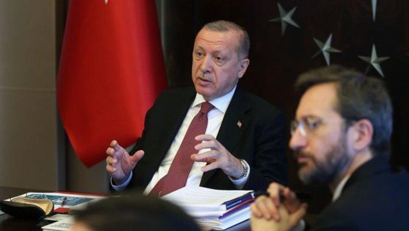 Cumhurbaşkanı Erdoğan, korona tedavisi gören hastalarla görüştü