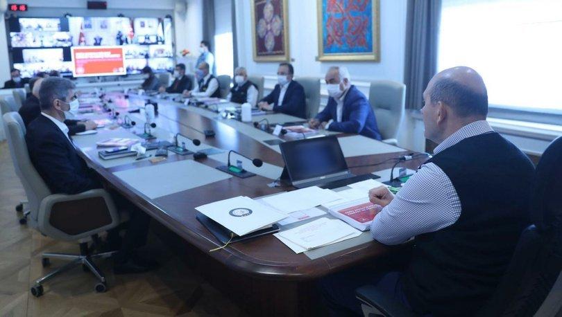 Bakan Soylu'nun başkanlığında video konferans yöntemiyle güvenlik toplantısı yapıldı