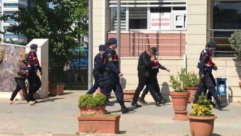 Ev sahibinin elleri ile ayaklarını bağlayan gaspçılar yakalandı