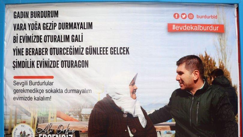 Burdur'da yerel şiveyle evde kal çağrısı