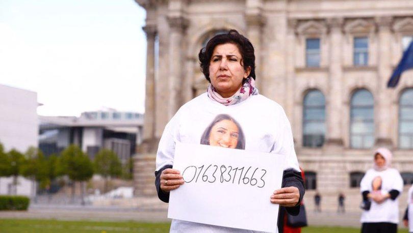 Almanya'da PKK tarafından kızı kaçırılan anne meclis önünde eylem yaptı