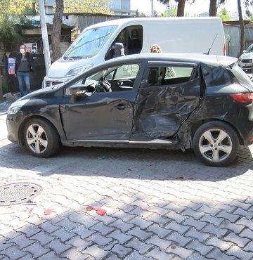 Polisi gören 'torbacı' 3 araca çarparak kaçtı!