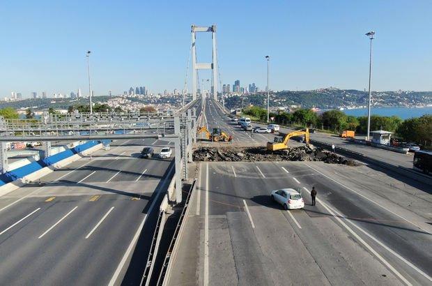 15 Temmuz Şehitler Köprüsüne TAK'lar kuruluyor
