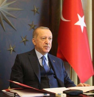 """9 Mayıs Avrupa Günü nedeniyle bir mesaj yayınlayan Cumhurbaşkanı Erdoğan, """"Bu zor günlerin Türkiye-AB ilişkilerine sunacağı fırsatları iyi değerlendirmeliyiz."""" dedi"""