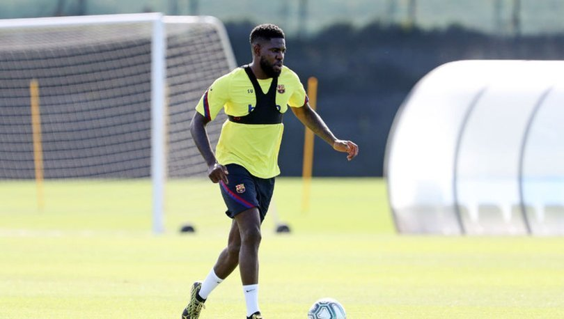 Barcelona'nın Fransız futbolcusu Samuel Umtiti, bireysel antrenmanda sakatlandı.