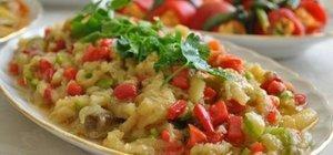 Közlenmiş patlıcan salatası nasıl yapılır? Közlenmiş patlıcan salatası tarifi hbrt