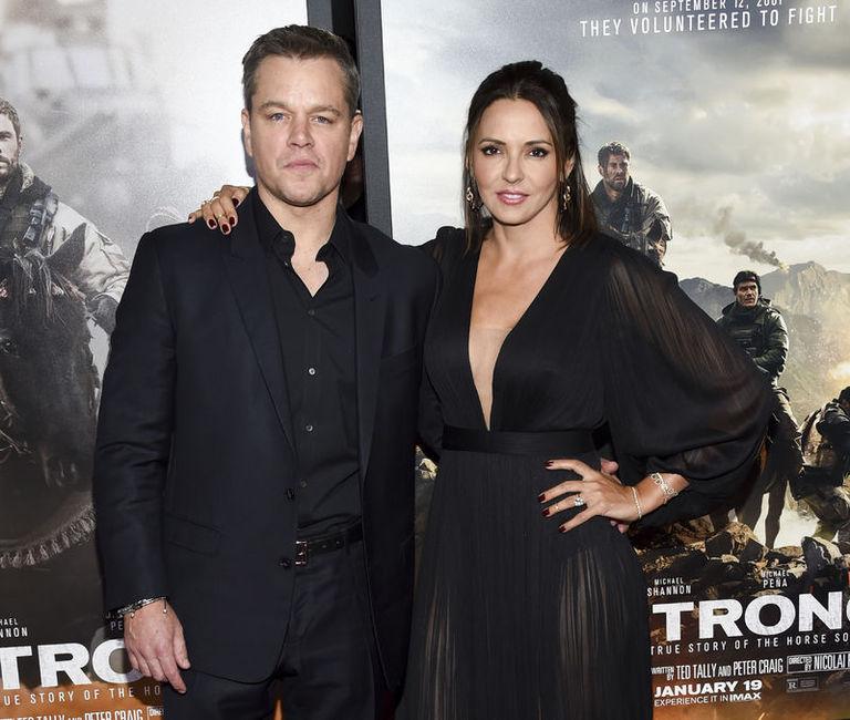 Matt Damon ve eşi Luciana Barroso