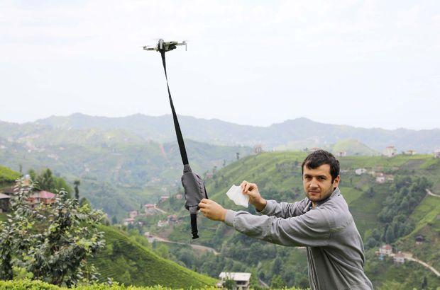 Çareyi 'drone'da buldular! Maskeleri böyle dağıtıyorlar!