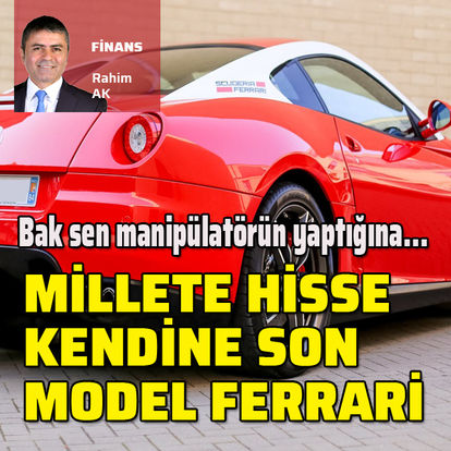 Yatırımcılara küçük şirket hissesi aldırdı kendine Ferrari aldı