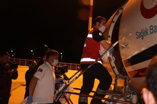 Ambulans uçak 17 günlük bebek için havalandı