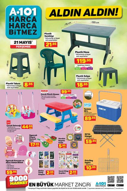 A101 21 Mayıs Aktüel ürünler kataloğu! A101 haftanın indirimli ürünler listesi