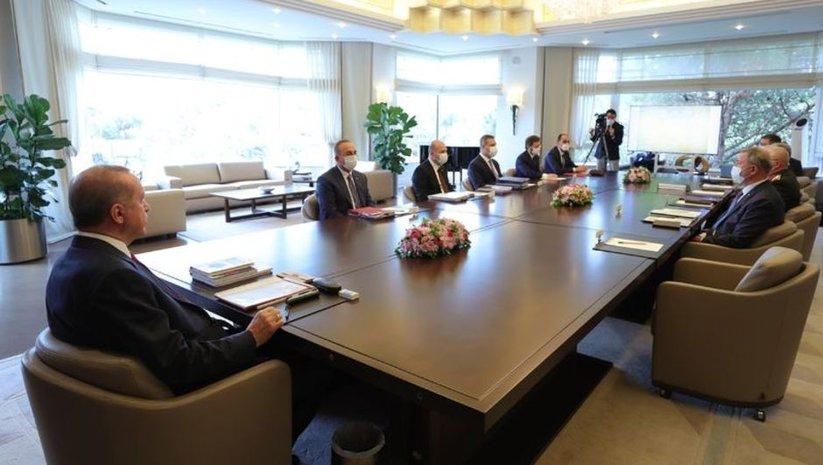 Cumhurbaşkanı Erdoğan başkanlığında Güvenlik Toplantısı