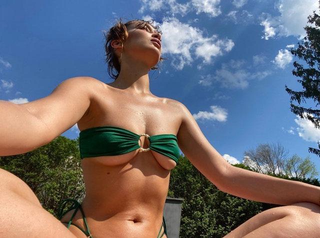 Bella Hadid'den iddialı pozlar - Magazin haberleri