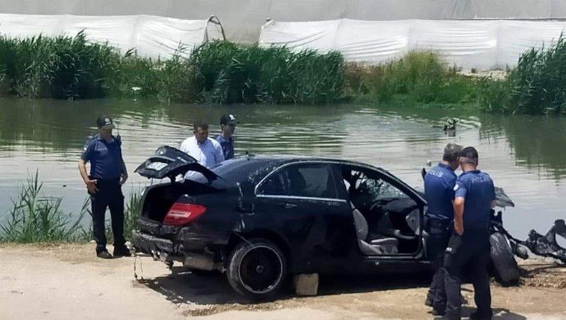 mersin'de otomobil sulama kanalına uçtu