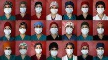 Covid savaşçılarının rengarenk boneleri hastalara moral veriyor