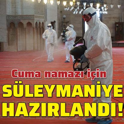 Süleymaniye Camii, Cuma namazına hazır!