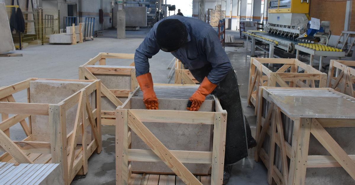 """Mermer sektörü Çin'e """"fotoğraflı ihracat""""a başladı"""