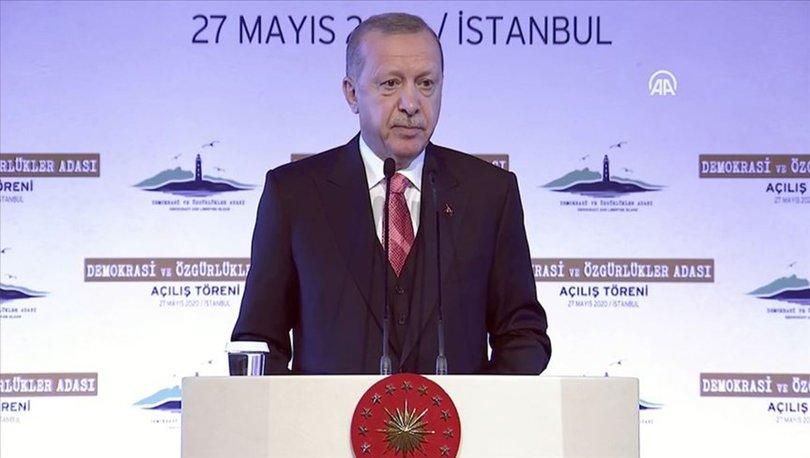 SON DAKİKA!Cumhurbaşkanı Erdoğan, Demokrasi ve Özgürlükler Adası (Yassıada) açıldı
