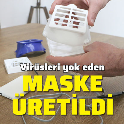 Virüsleri yok eden elektronik maske üretildi