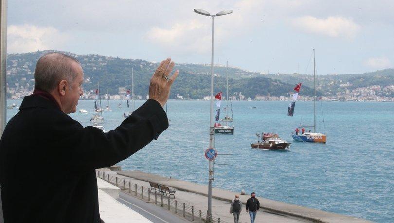 Milli sporcular Cumhurbaşkanı Erdoğan'ı selamladı
