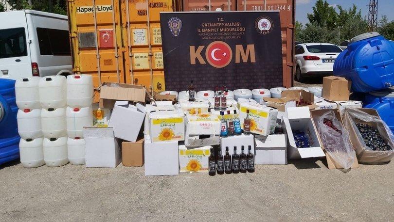 Son dakika haberler... Gaziantep'te depoda yaklaşık 1,5 ton sahte alkol ele geçirildi!