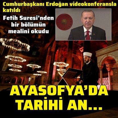 Ayasofya'da Fetih suresi okundu