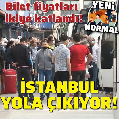 Bilet fiyatları 2 katı! İstanbul yola çıkıyor!