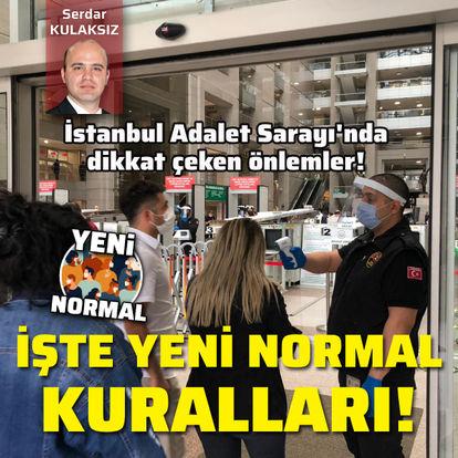 İstanbul Adalet Sarayı'nda dikkat çeken önlemler!