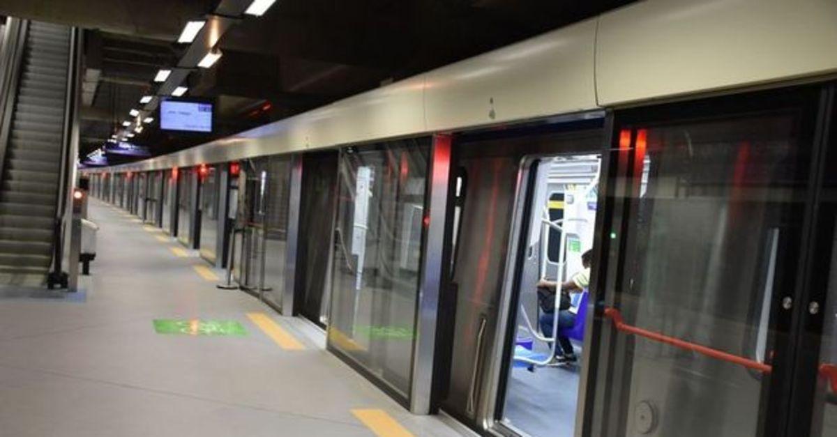 Metro hattında teknik arıza meydana gelmişti